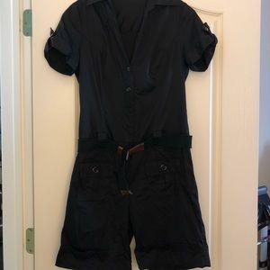 Black romper with belt